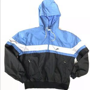 Vtg Nike Windbreaker Jacket 1/2 zip shirt 80s
